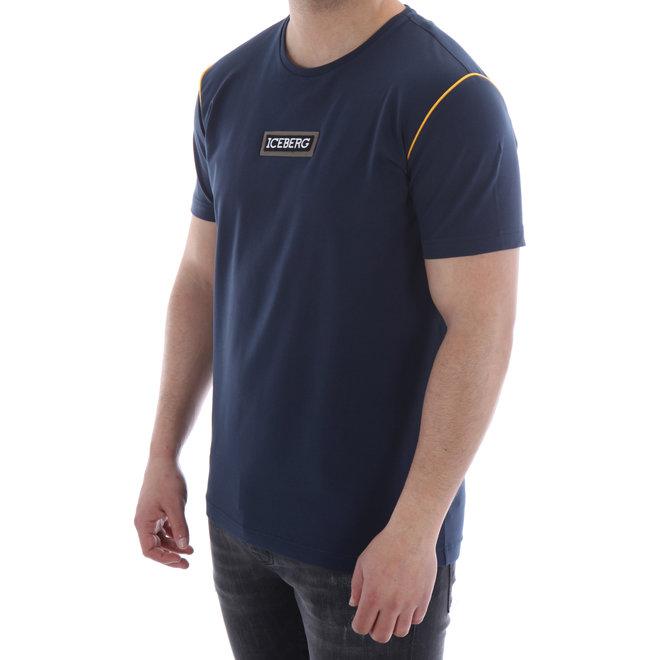 T-shirt Yellow Piping | Donkerblauw | Iceberg