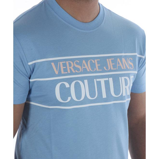 Logo t-shirt   Licht blauw   Versace Jeans Couture