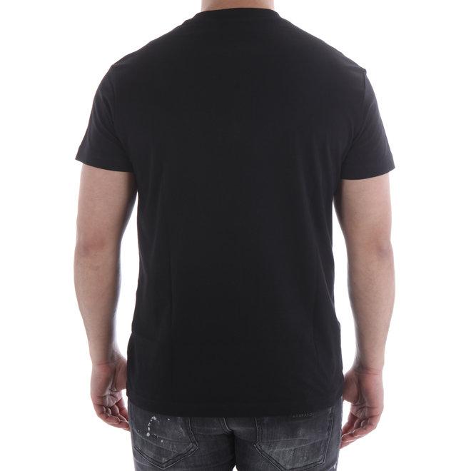 Logo t-shirt | Zwart / Rood | Versace Jeans Couture