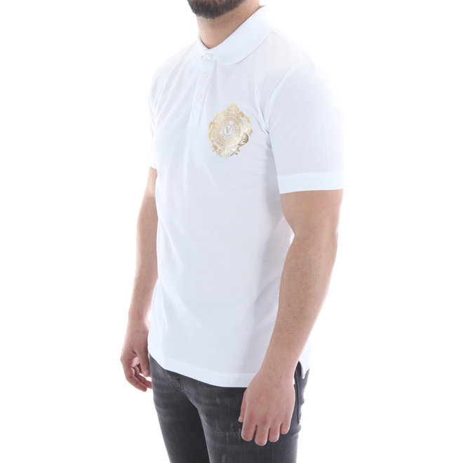 Polo met logo | Wit / Goud | Versace Jeans Couture