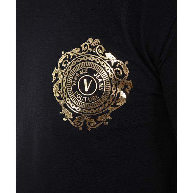 T-shirt | Zwart / Goud | Versace Jeans Couture