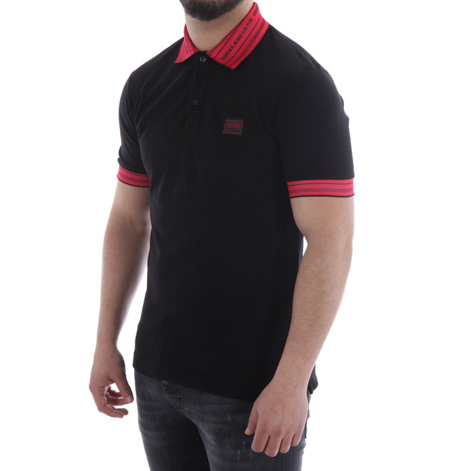 Polo | Zwart / Rood | Versace Jeans Couture