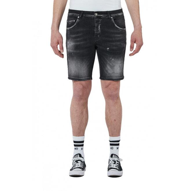 Denim Distressed Short | Zwart | My Brand