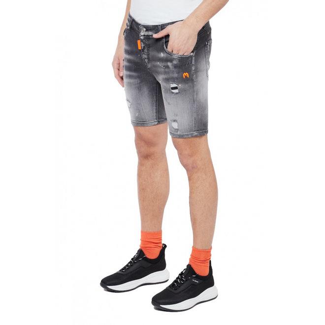Denim short | Grijs / Neon Oranje | My Brand