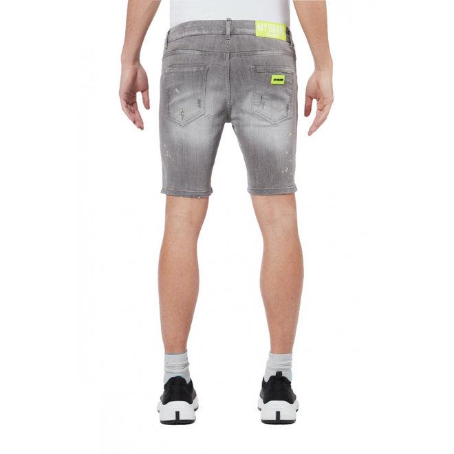 Denim Short   Grey / Neon Yellow   My Brand