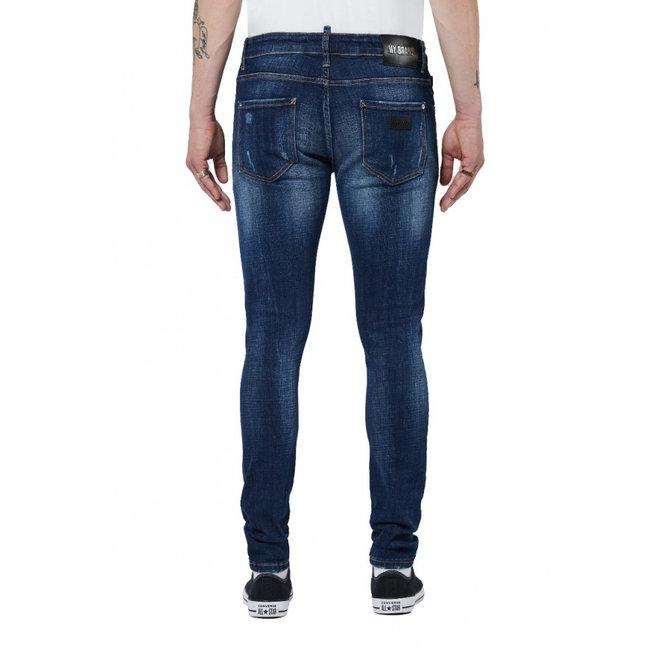 Jeans Subtle Destroyed   Dark Denim   My Brand