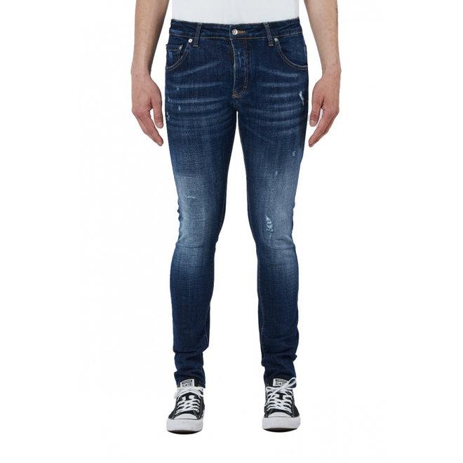 My Brand   Dark Denim Subtle Destroyed Jeans