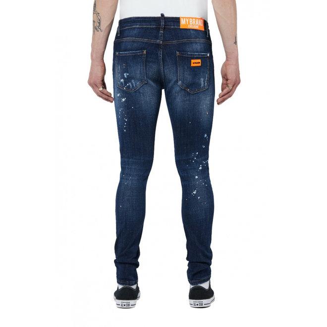 Dark Denim Jeans | Neon Orange | My Brand