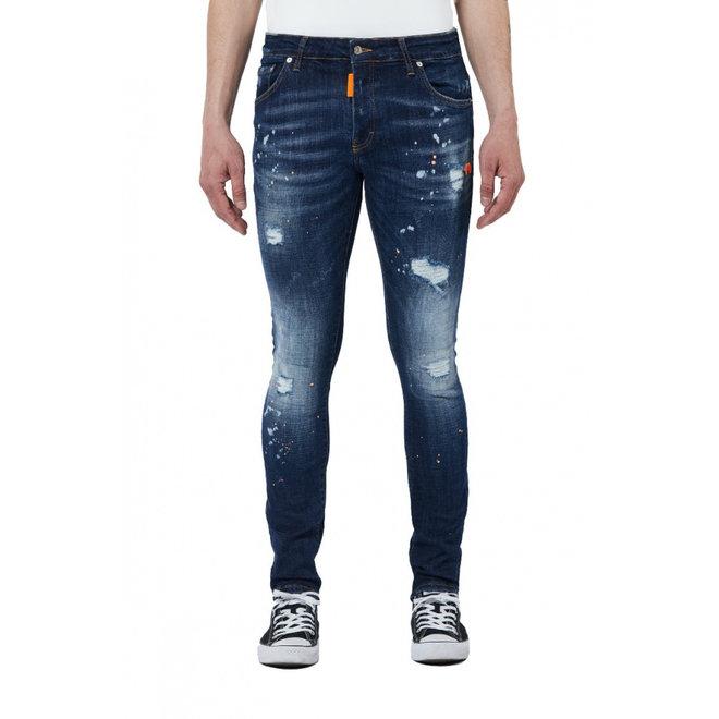 My Brand | Dark Denim Jeans | Neon Orange