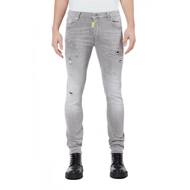 My Brand | Denim Grey | Yellow spotted Jeans