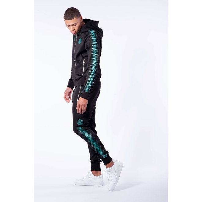Hexagon Tracksuit | Black / Blue | Black Bananas