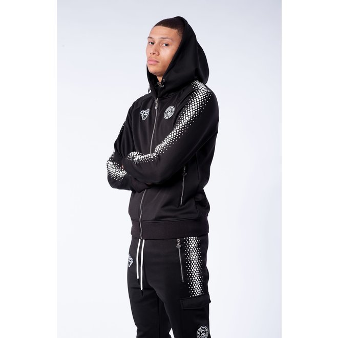 Hexagon Tracksuit | Black / White | Black Bananas
