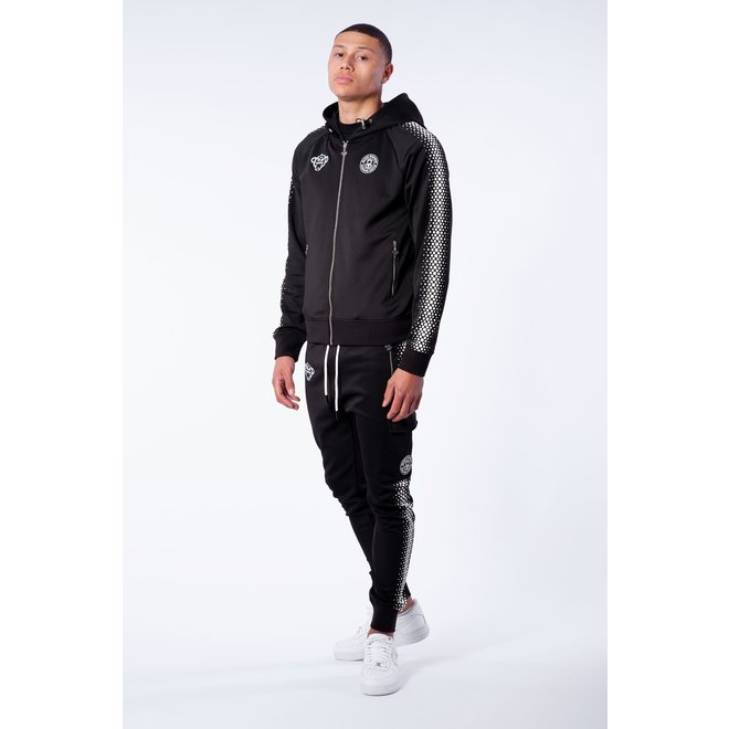 Black Bananas | Hexagon Tracksuit | Black / White