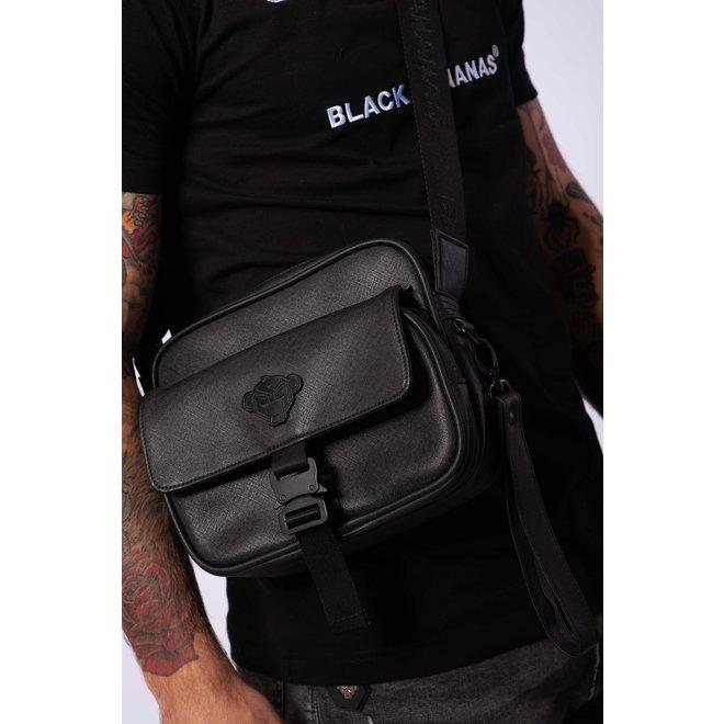 Shadow Buckle Cross Bag | Zwart | Black Bananas
