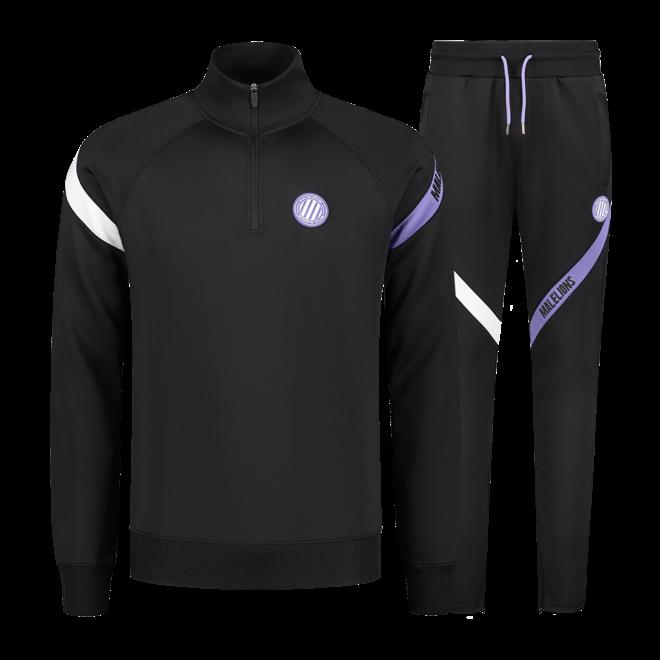 Malelions Sport | Pre-Match Quarterzip | Black / Purple