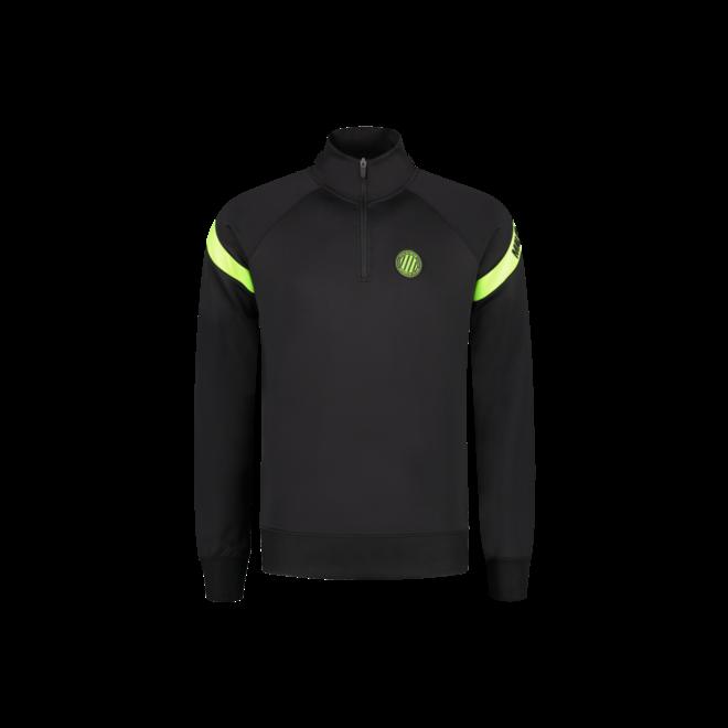 Pre-Match Quarterzip Tracksuit | Black / Neon Yellow | Malelions Sport