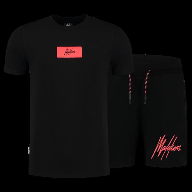 Malelions | Jerra set | Black / Neon Red