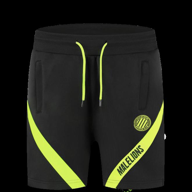 Pre-Match t-shirt + short | Black / Neon Yellow | Malelions