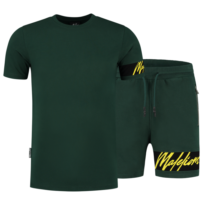 Malelions | Captain T-shirt & Short | Army / Yellow