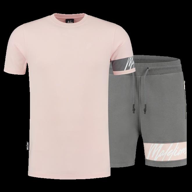 Malelions | Captain t-shirt & short | Pink & Matt