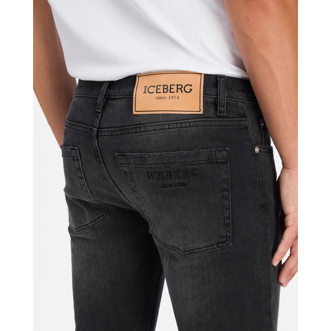 Distressed Effect Jeans | Black | Iceberg