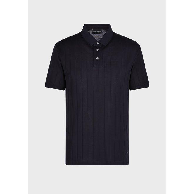 Polo shirt Jacquard | Donkerblauw | Armani