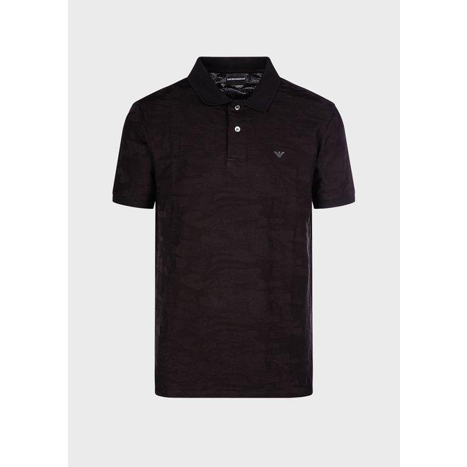 Emporio Armani | Jersey Polo Shirt Camouflage | Zwart