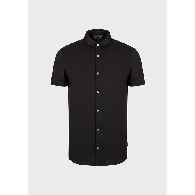 Overhemd met korte mouwen   Zwart   Emporio Armani
