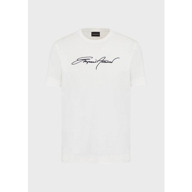 Signature t-shirt   Wit   Emporio Armani