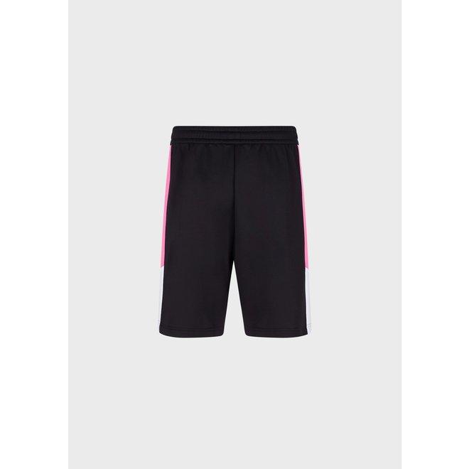 Color Block Fleece Shorts   EA7   Zwart / Roze
