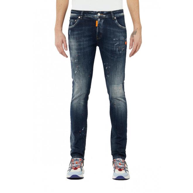 My Brand | Distressed Jeans |  Dark Neon Orange