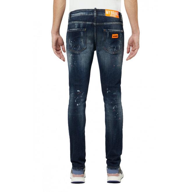 Distressed Jeans | Dark Neon Orange | My Brand