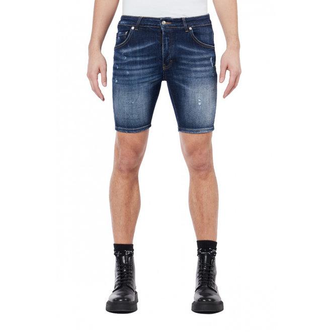 My Brand | Subtle Destroyed Shorts |  Dark Denim