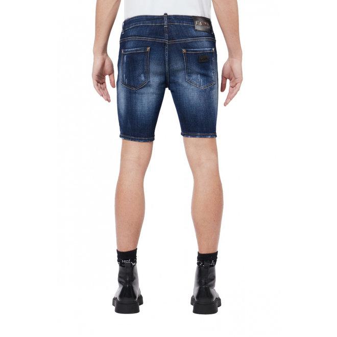 Subtle Destroyed Shorts | Dark Denim | My Brand