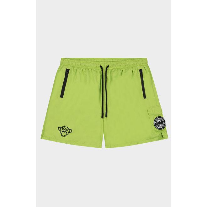 Palm Pocket Swimshort | Neon Yellow | Black Bananas