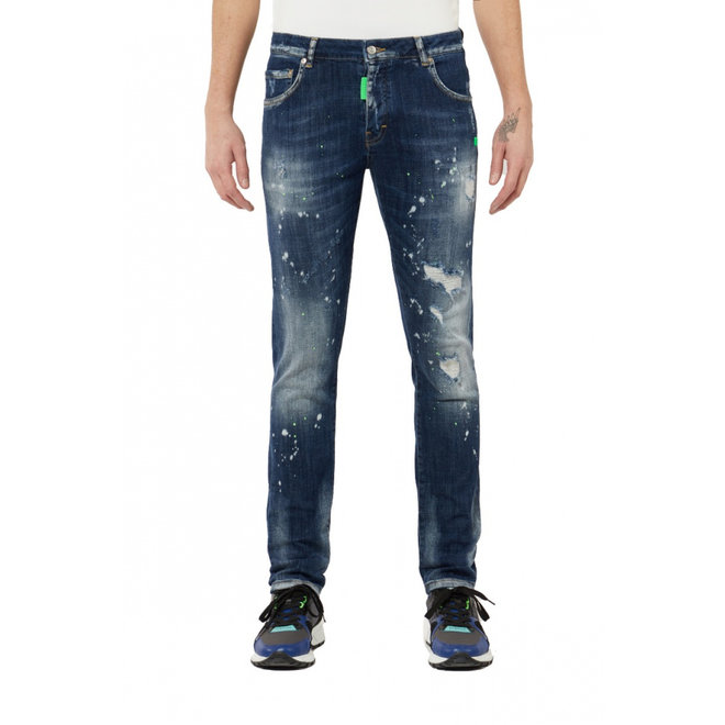My Brand | Neon Green Distressed Jeans