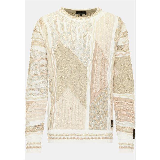 Pullover | White/Beige |Carlo Colucci