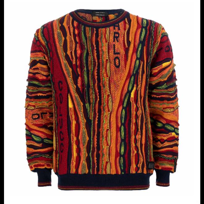 Sweater | Oranje / multicolor | Carlo Colucci