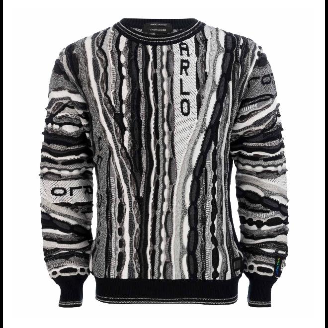Sweater   Carlo Colucci   Zwart / Wit