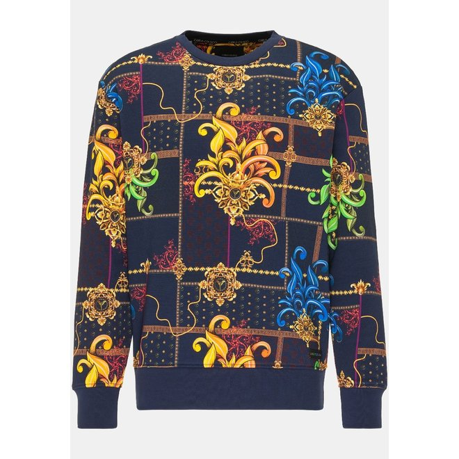 Striking Sweatshirt | Donkerblauw | Carlo Colucci