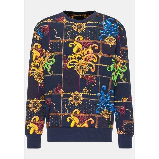 Carlo Colucci | Striking Sweatshirt | Navy