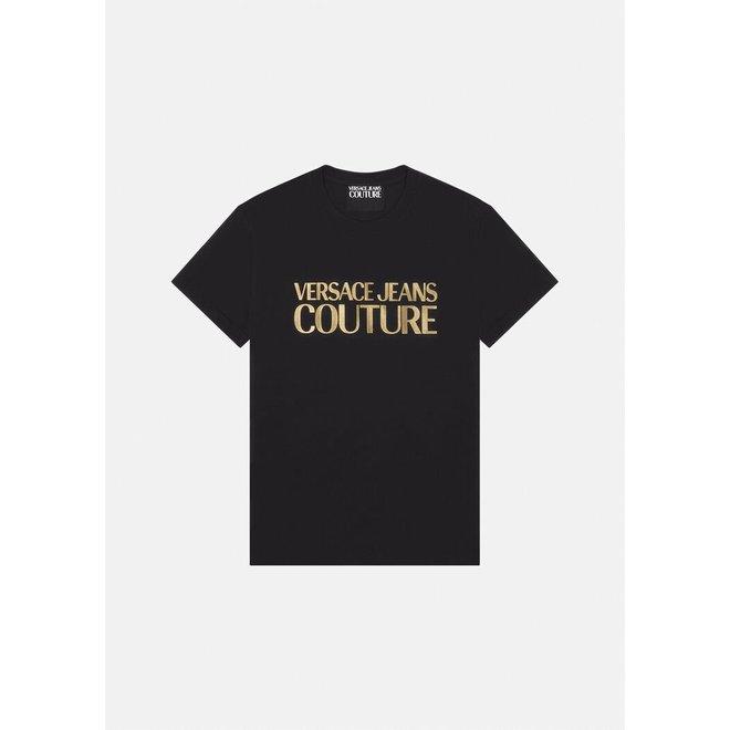Versace Jeans Couture   Logo T-shirt   Zwart / Goud