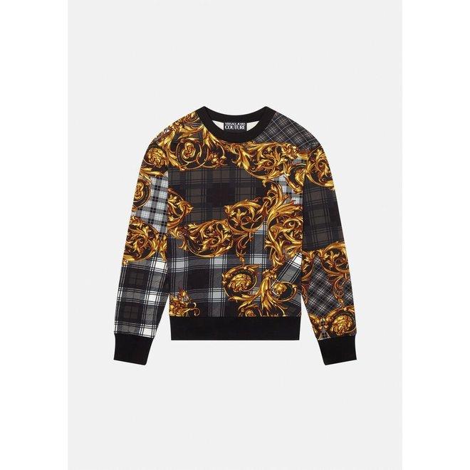 Sweater met Versace opdruk | Zwart / Goud | Versace Jeans Couture