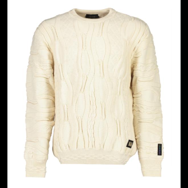 Organic Sweater   Wit   Carlo Colucci