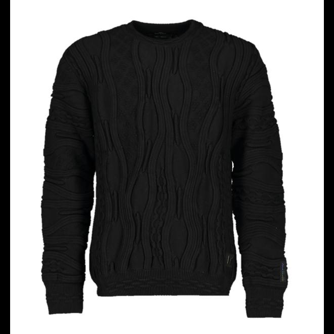 Zwarte Organic Sweater van Carlo Colucci