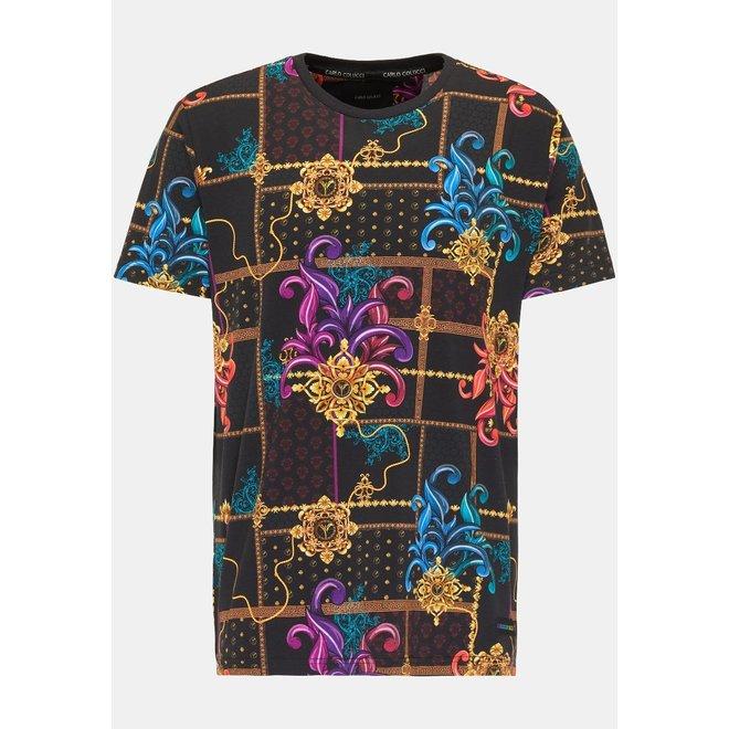 Carlo Colucci   Striking T-shirt   Zwart