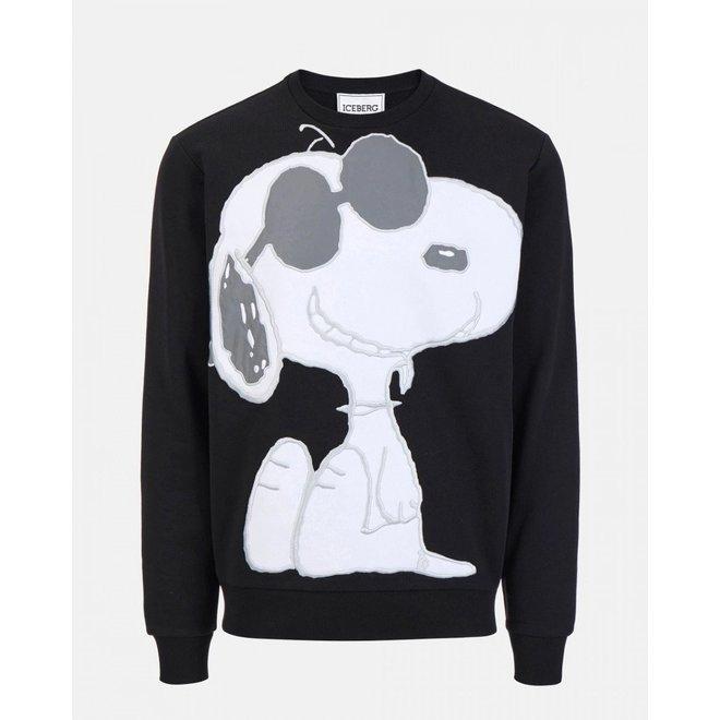 Iceberg   Snoopy Sweatshirt   Zwart