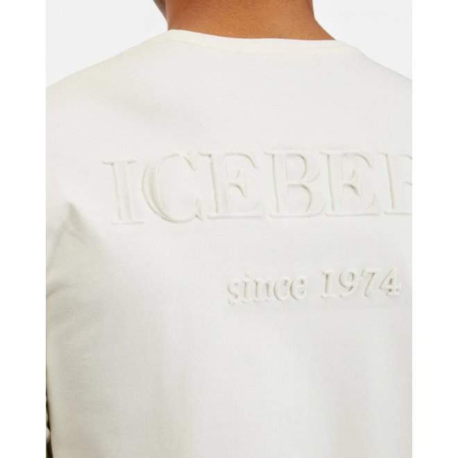 Long Sleeve Shirt Embossed Logo   Iceberg   Wit