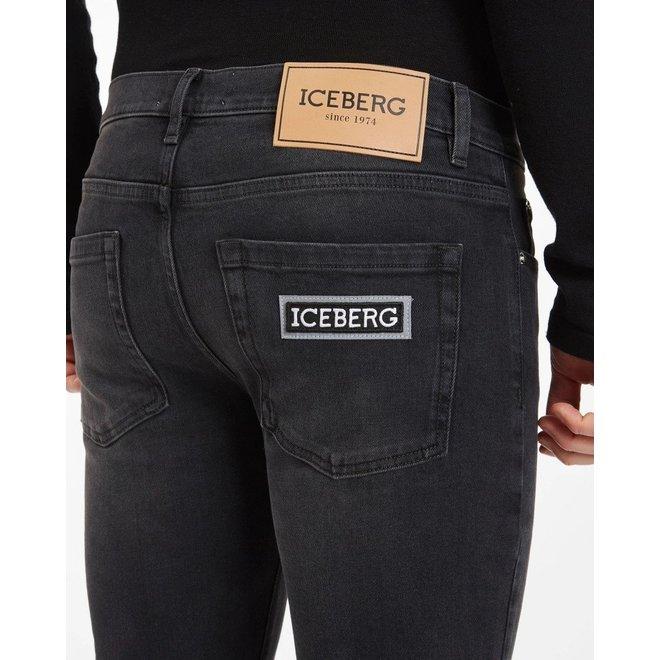 Zwarte Iceberg Super Skinny Fit Jeans