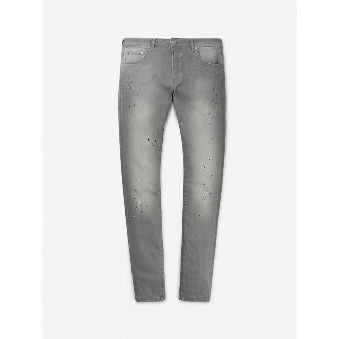 AB Lifestyle   Basic Denim Jeans   Grey Splatter